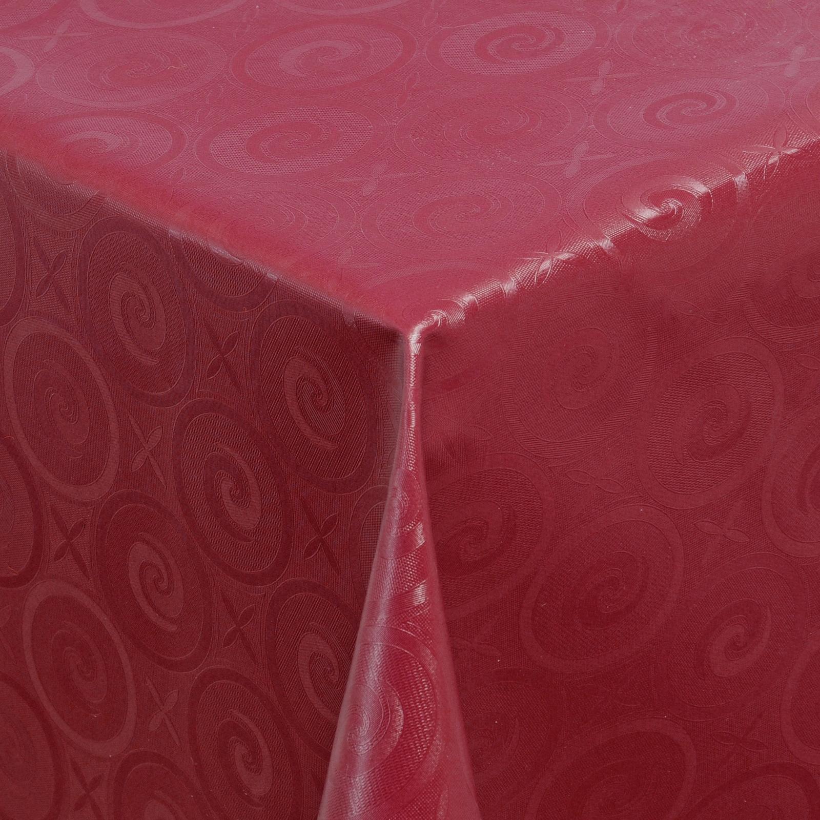 tischdecke abwaschbar wachstuch relief kreise rot im wunschma ebay. Black Bedroom Furniture Sets. Home Design Ideas