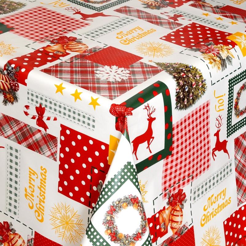 wachstuch tischdecke weihnachten abwischbar meterware mit fleecer cken ebay. Black Bedroom Furniture Sets. Home Design Ideas